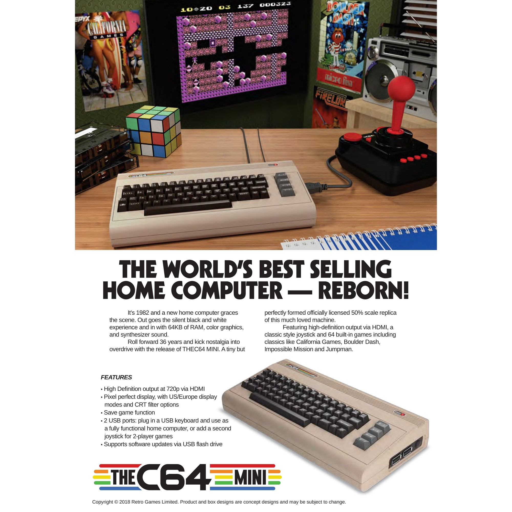 The C64 Mini Console - Pre-orders Open and Limited! - Vast Inc